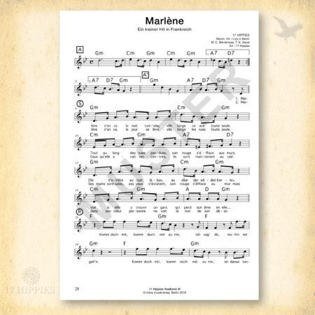 Noten: Marlène in C