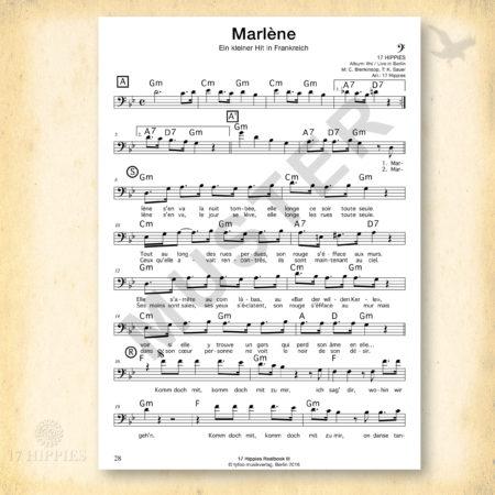Noten: Marlène für Bass