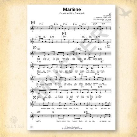 Noten: Marlène in Eb