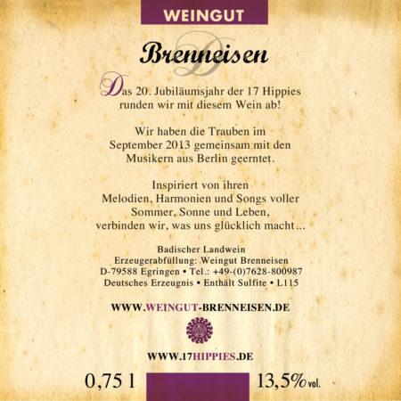 17 Hippies Wein - Etikett Rückseite
